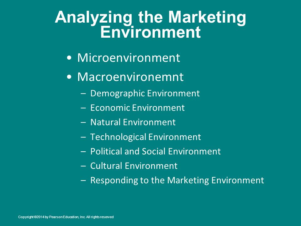 Analyzing The Marketing Environment Ppt Download