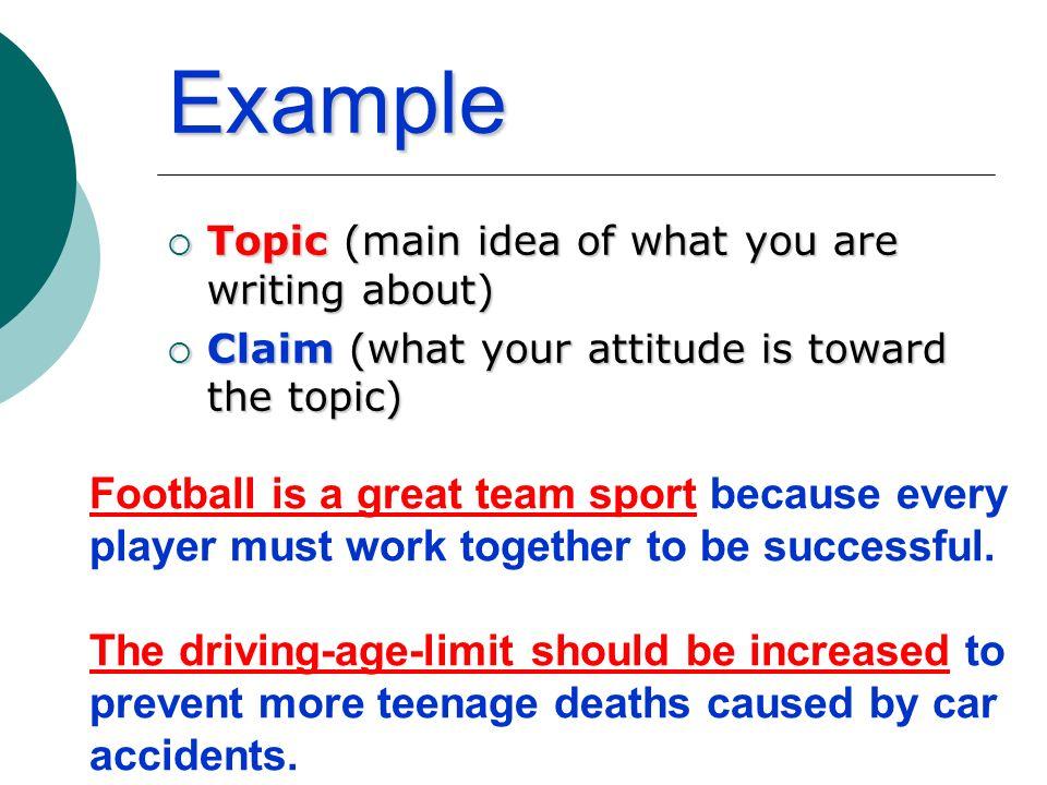 examples you attitude writing