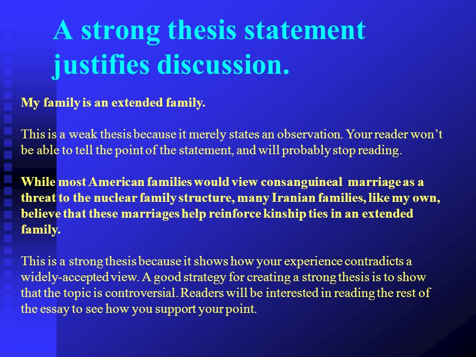 thesis on marriage and family