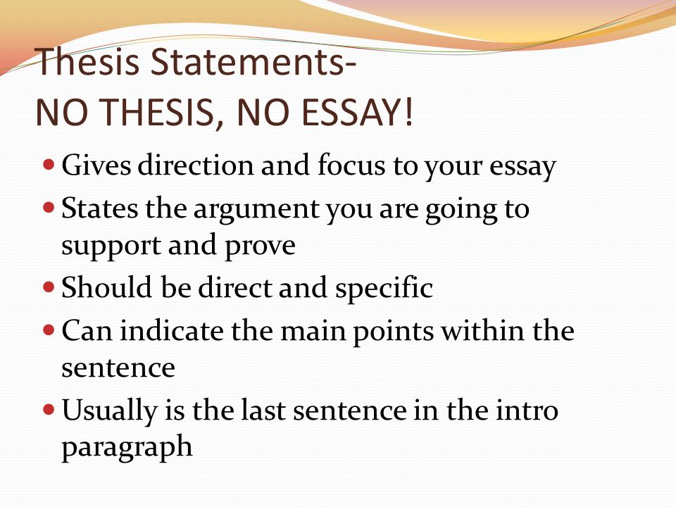 thesis statements no thesis no essay  ppt download thesis statements no thesis no essay