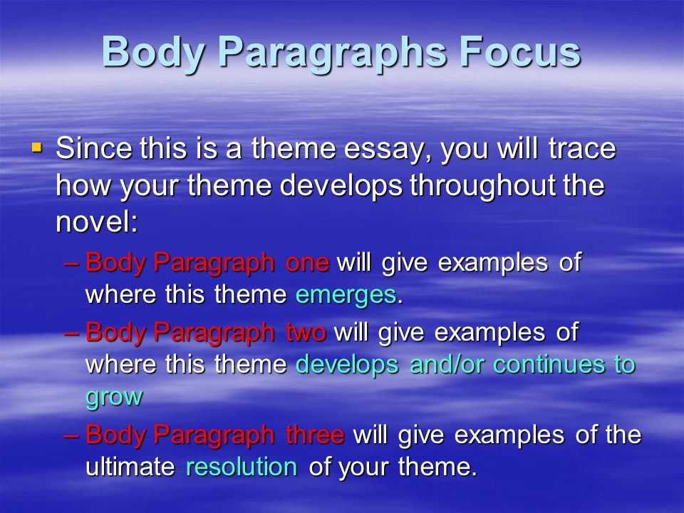 FM 2019 FLUT pores and skin dark ( space ) Model A single.8 Body+Paragraphs+Focus+Since+this+is+a+theme+essay%2C+you+will+trace+how+your+theme+develops+throughout+the+novel%3A