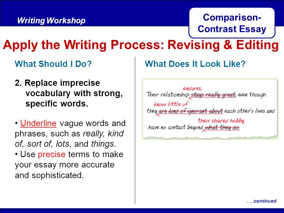 compare and contrast life before and Before you begin to draft a compare and contrast essay, you should brainstorm by creating a venn diagram or a chart to list pros and cons of each subject you are comparing to another the first paragraph of your compare and contrast essay (the introductory paragraph ) should contain references to both sides of your comparison.