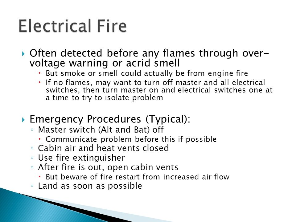 Electrical Fire Often Detected Before Any Flames Through Over Voltage Warning Or Acrid Smell