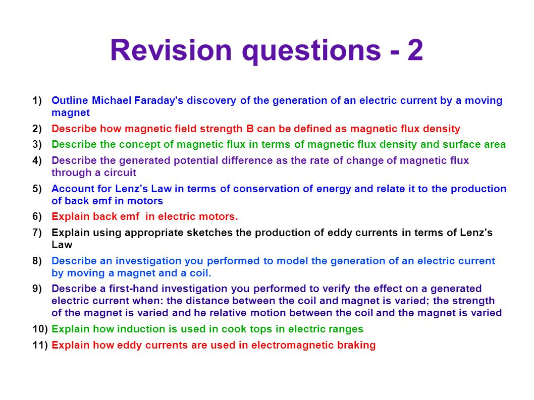 93 Motors And Generators Ppt Download Describes The Basic Concepts Of Direct Current Dc Electrical Circuits Revision Questions 2 Outline Michael Faraday S Discovery Generation An Electric