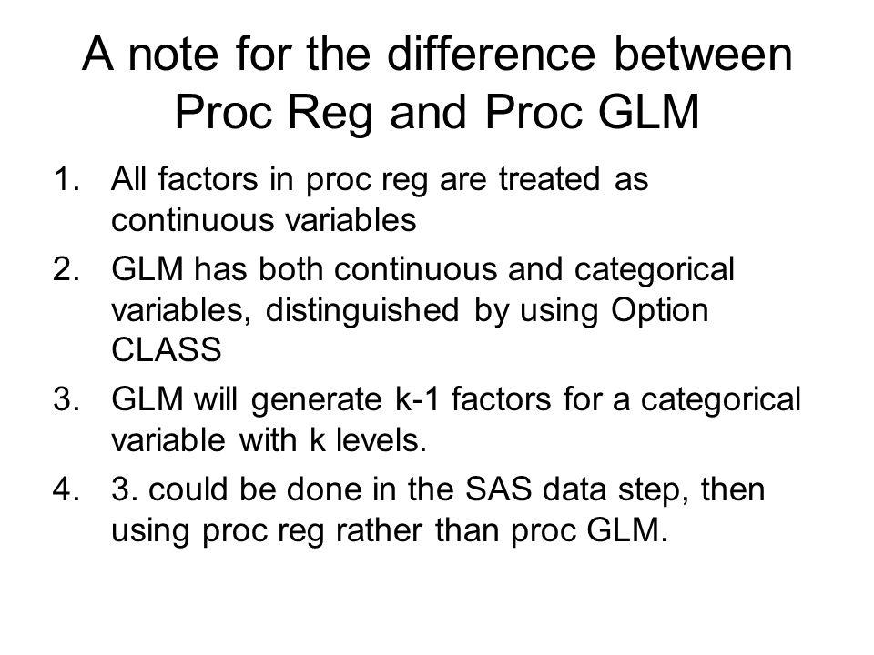 Chapter Outline 5 0 PROC GLM - ppt download