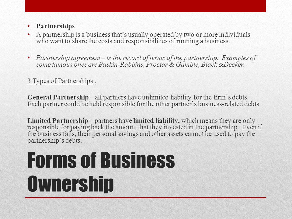 Types of Businesses Unit 1 Chapter ppt video online download