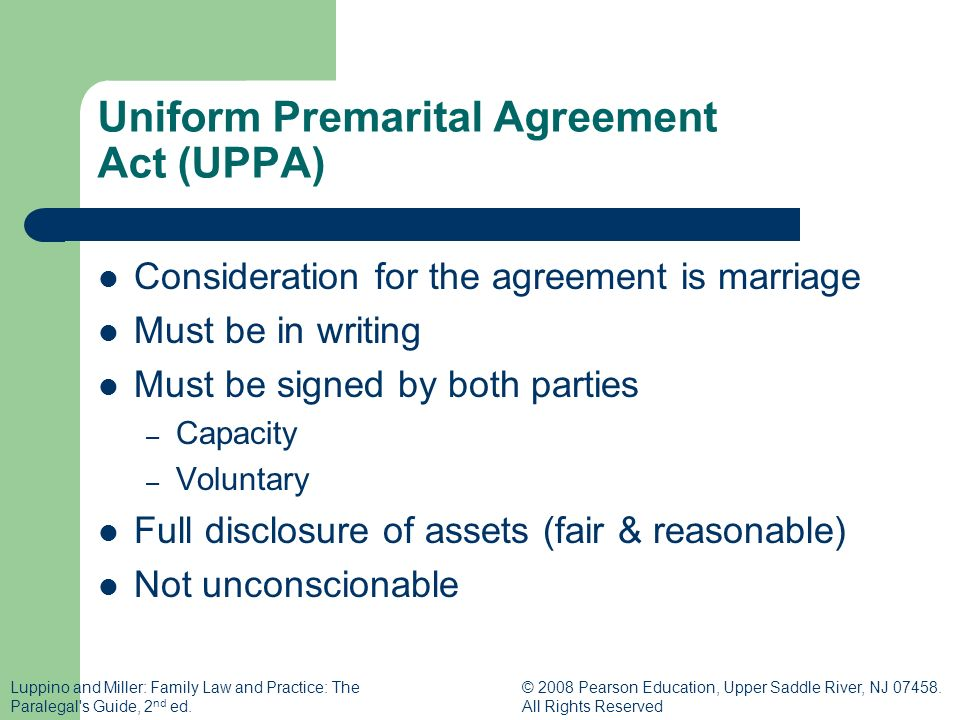 Premarital Agreements Cohabitation And Same Sex Marriages Family