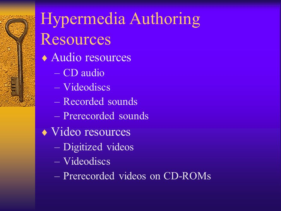 Hypermedia Authoring Resources