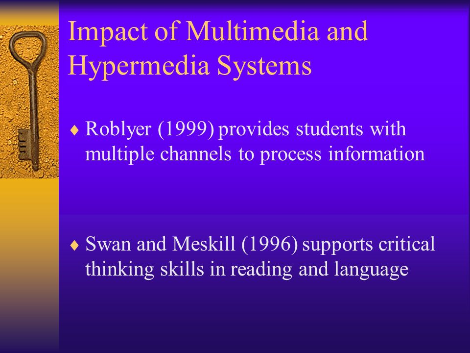 Impact of Multimedia and Hypermedia Systems