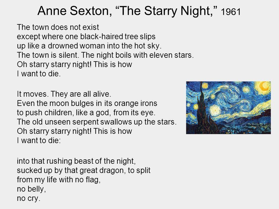 the starry night poem analysis