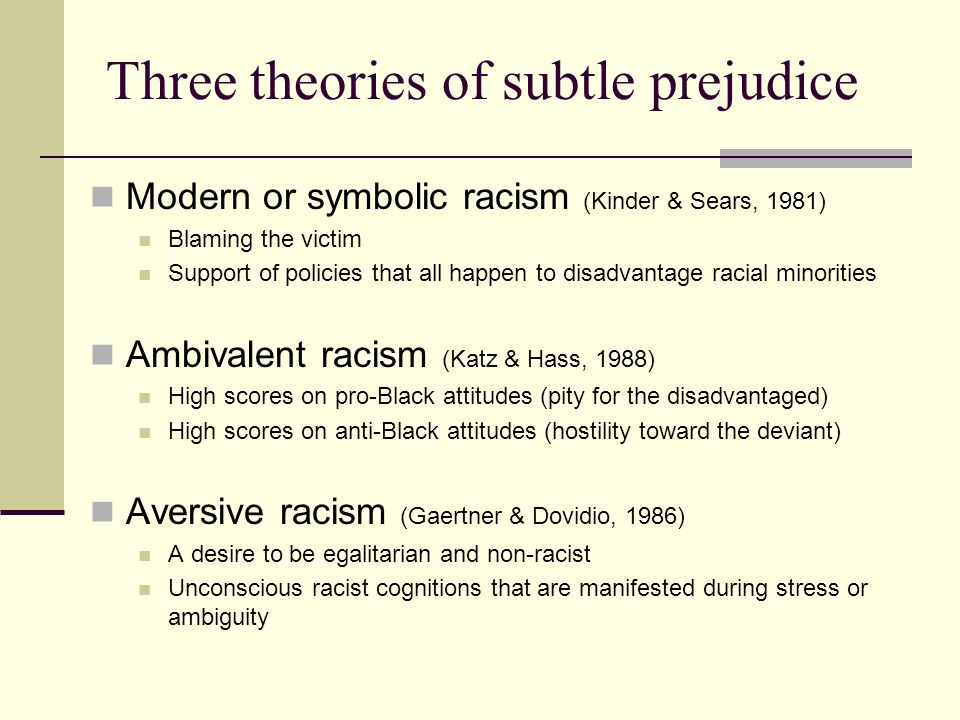 Prejudice Theories And Research Ppt Video Online Download