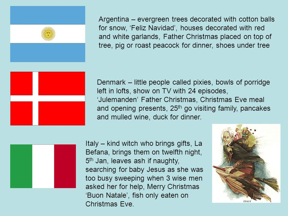 Argentina – evergreen trees decorated with cotton balls for snow, 'Feliz  Navidad', - India €� Mango And Banana Trees Decorated, Christmas €� Bada Bin
