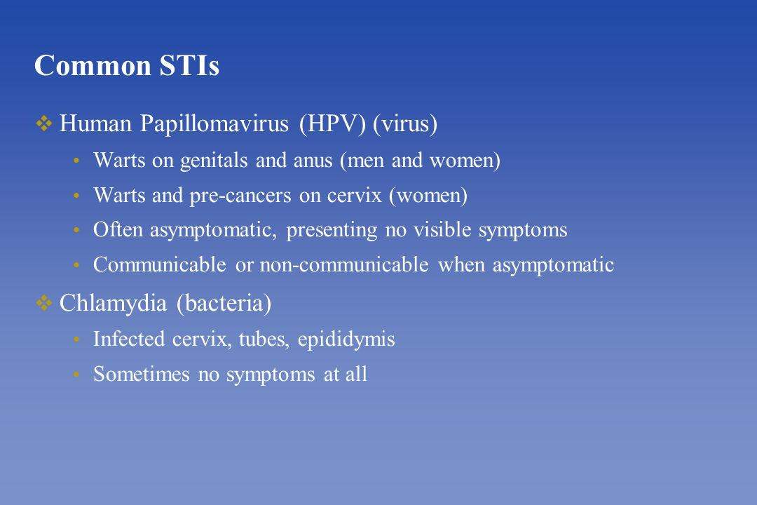 hpv virus and chlamydia semne și tratamentul paraziților