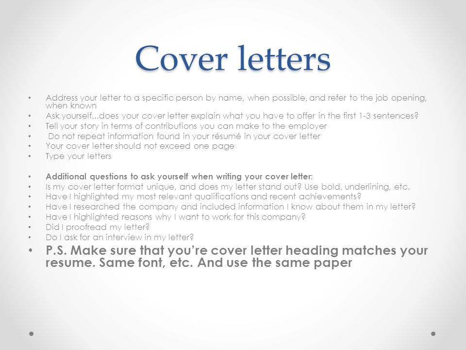 Resumes and cover letters ppt video online download 8 cover letters thecheapjerseys Image collections