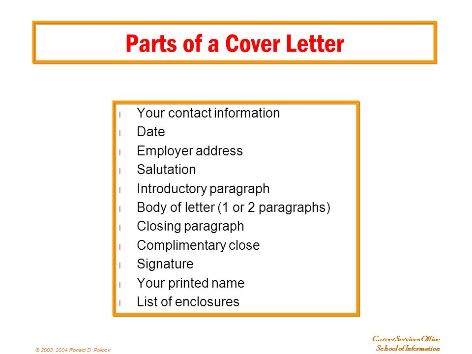 cover letter closing cover letter closing paragraphs 21004 | Parts of a Cover Letter Your contact information. Date. Employer address. Salutation. Introductory paragraph.
