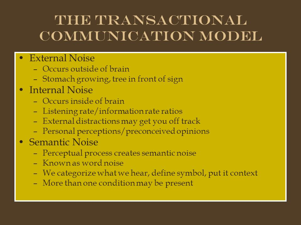 transactional model of communication pdf