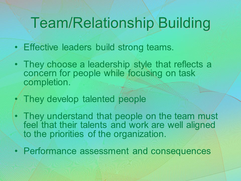 Team/Relationship Building