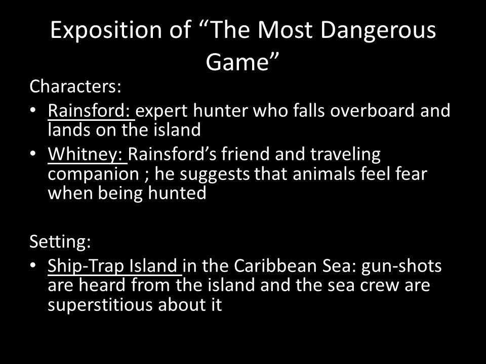 characters from the most dangerous game