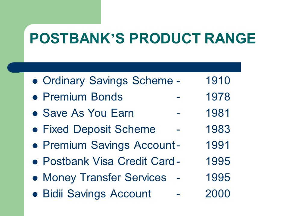 Post Bank Kenya Fixed Deposit Account