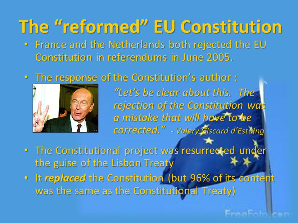 The reformed EU Constitution