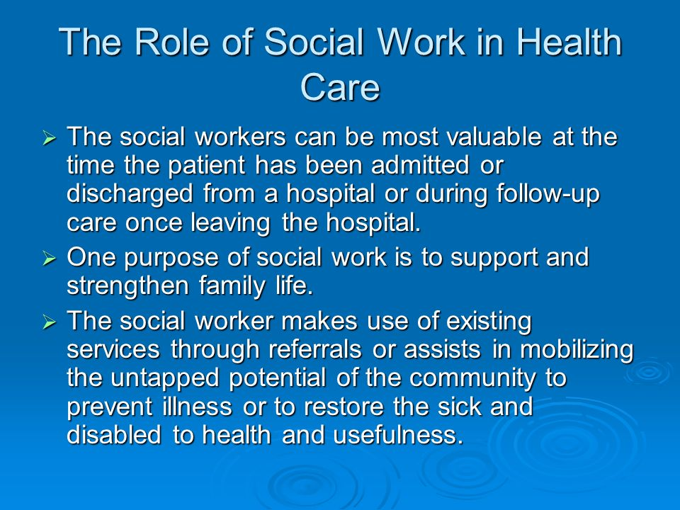 Social Work In Health Care Ppt Video Online Download
