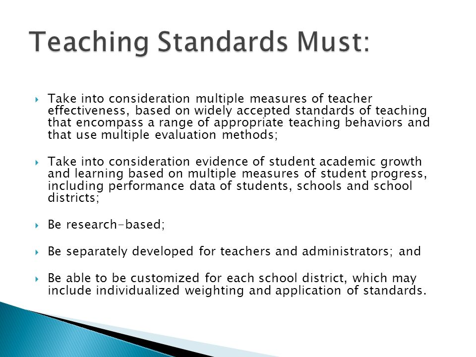 Teaching Standards Must:
