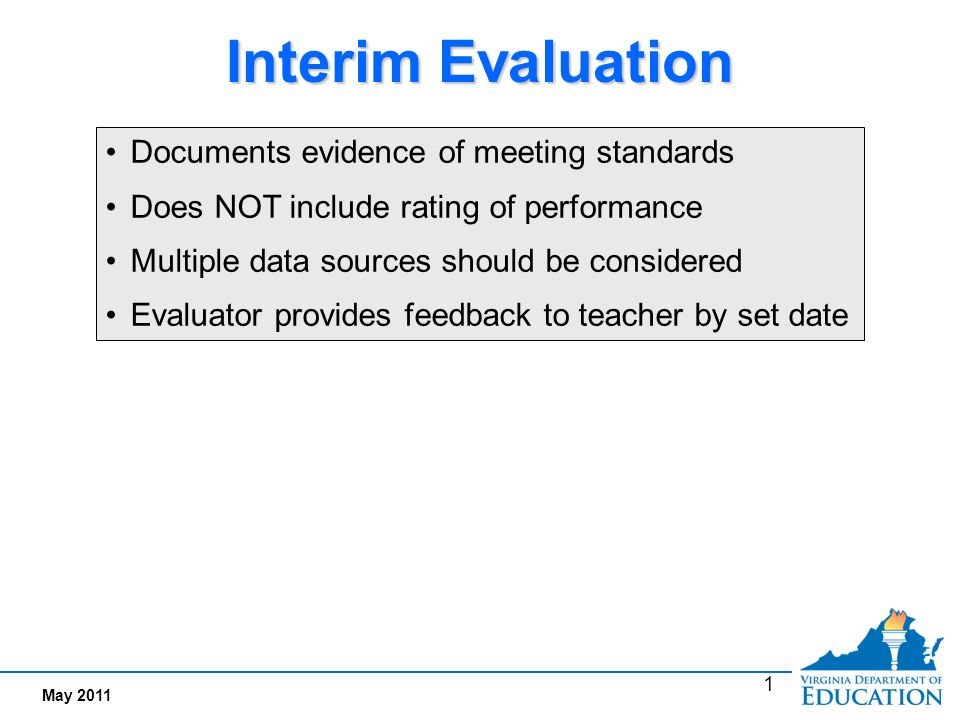 2 Sample Interim Evaluation Form