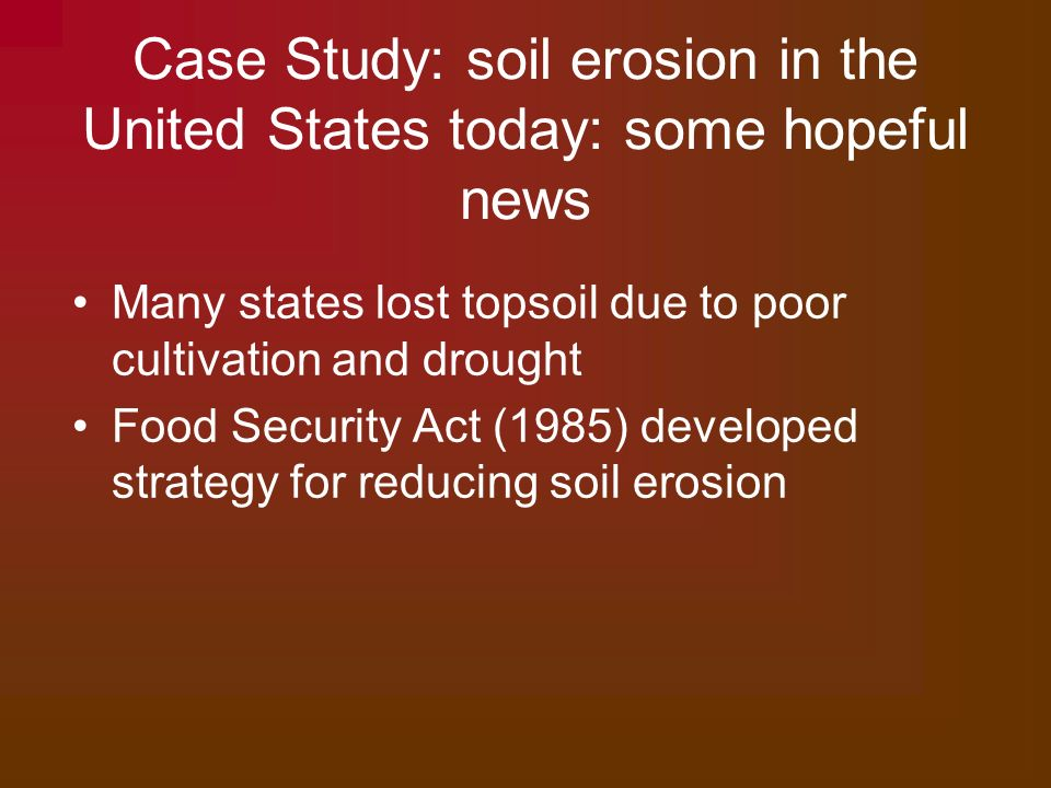 soil erosion case study in an ledc