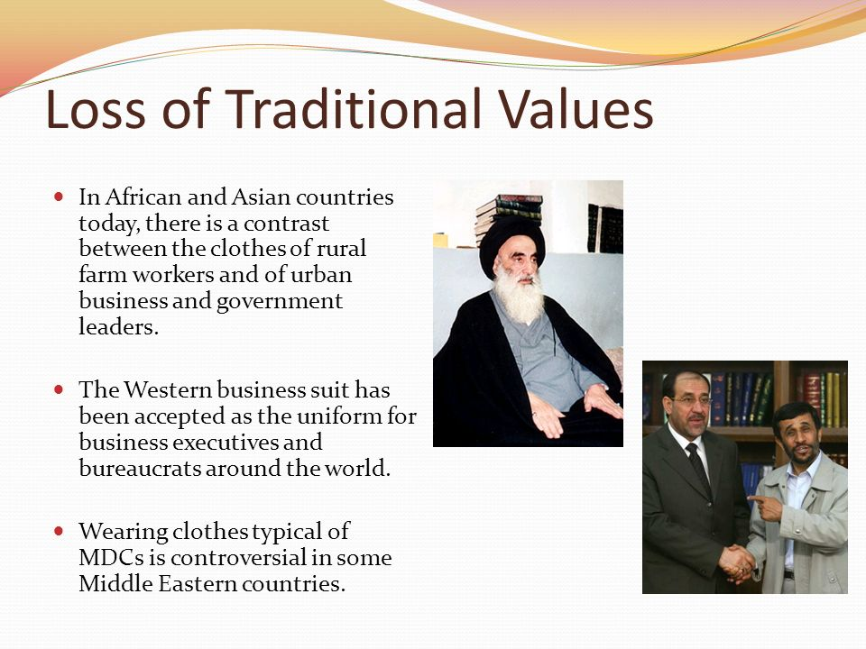 what are some traditional values