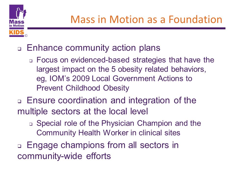 Mass in Motion as a Foundation