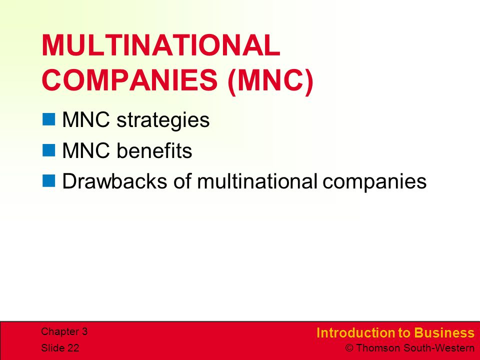 MULTINATIONAL COMPANIES (MNC)