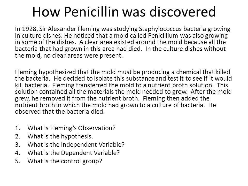 How Penicillin was discovered