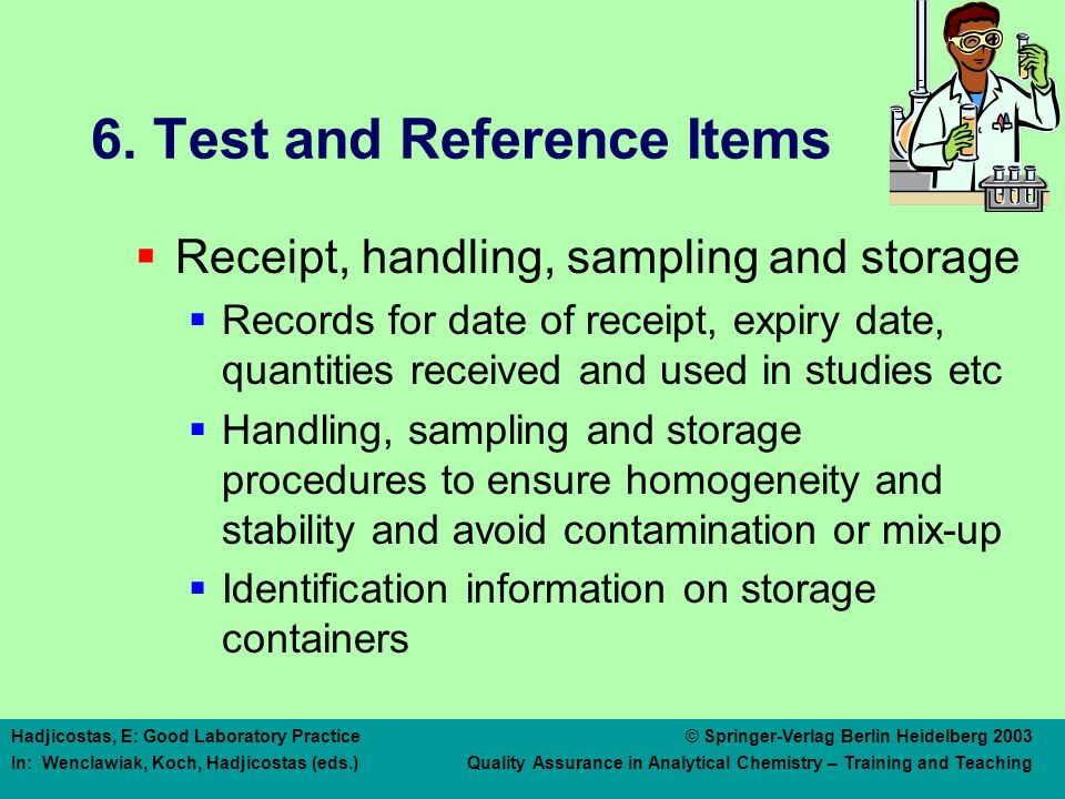 6. Test and Reference Items