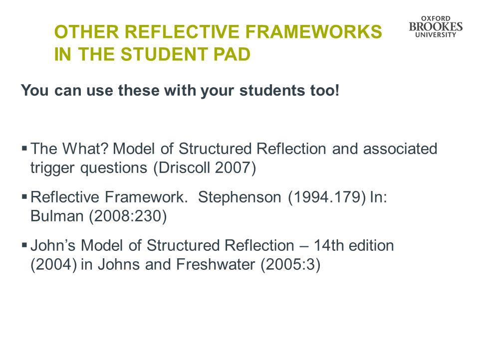 johns 1994 model of reflection