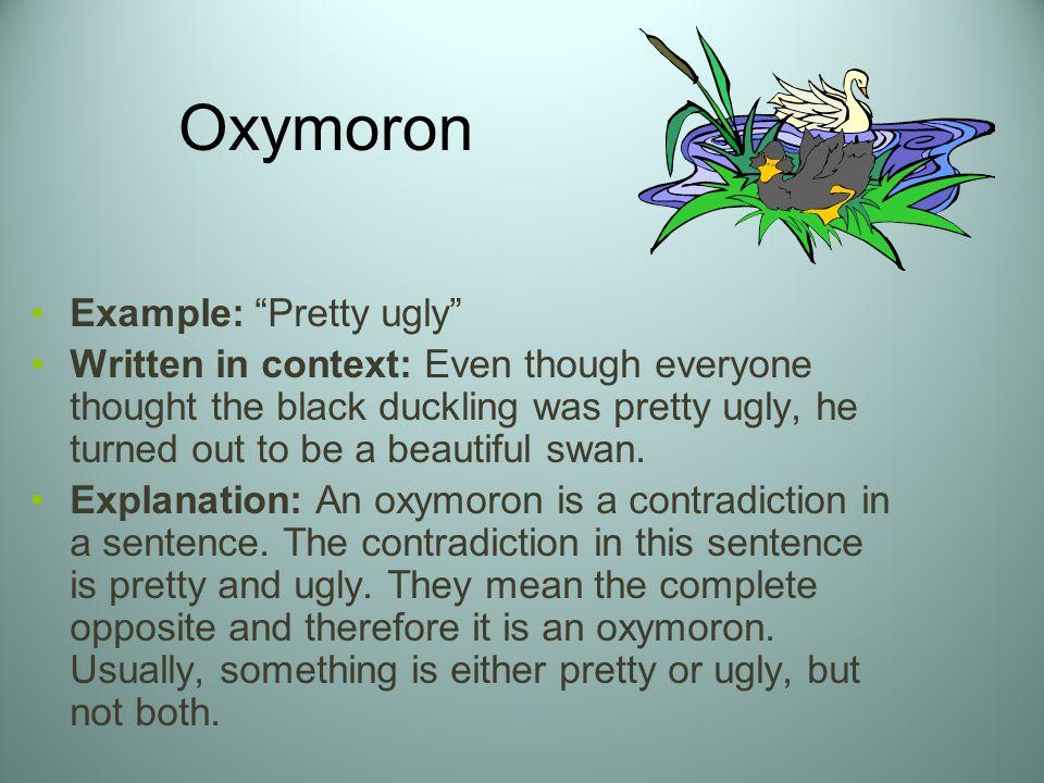 Examples Of Oxymoron Sentences Figures Of Speech Gallery Example