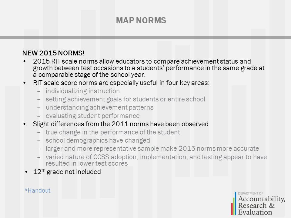 Map 2015 Norms.Map Sal Training August 6 Ppt Download