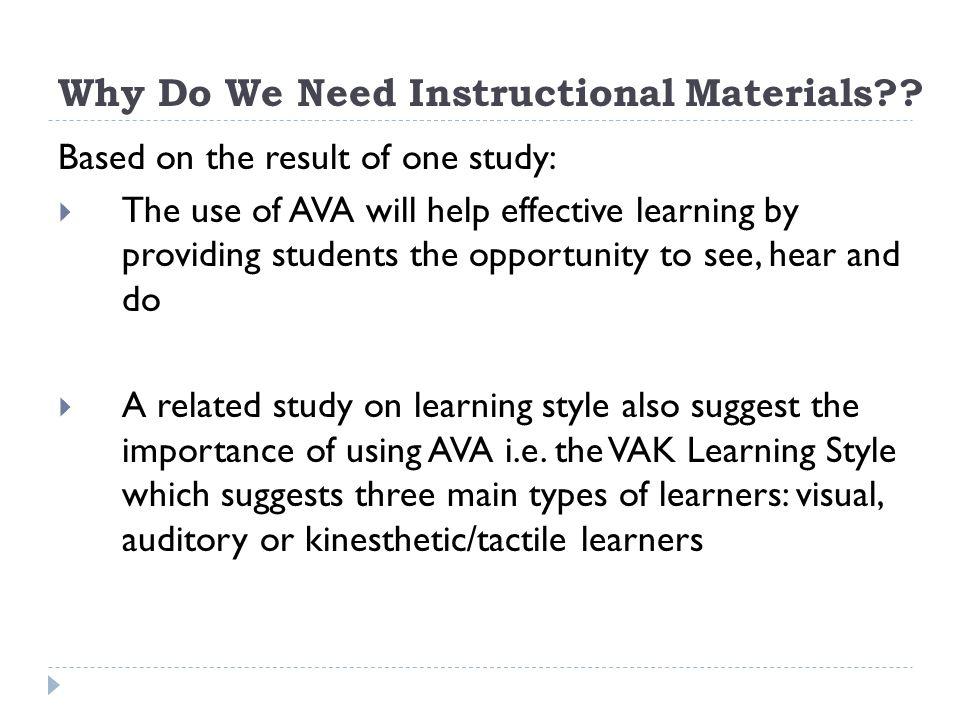 Instructional Materials Principles Design Utilization And
