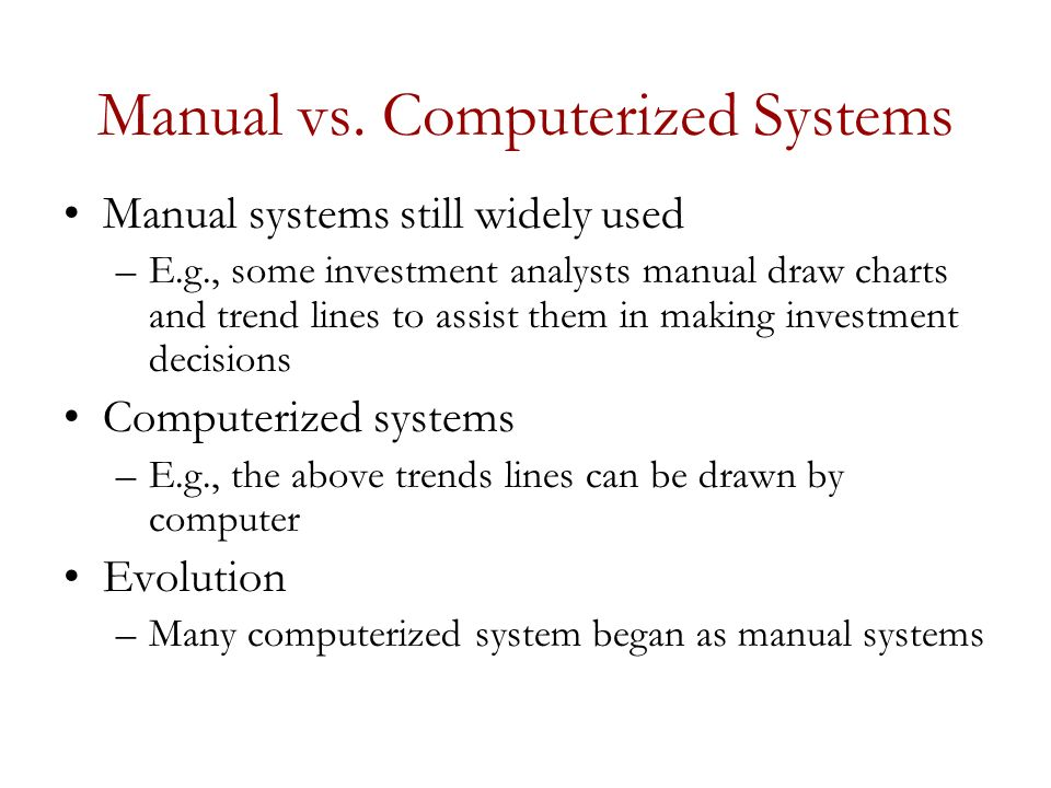 an analysis of the computerization process and the natural evolution of computers Evolution of management, administrative, and leadership theories 13 the industrial revolution created a need for new thinking and the refinement.