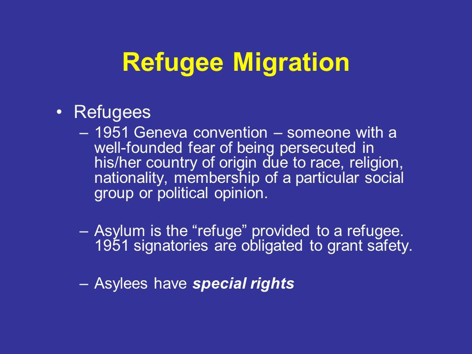 Refugee Migration Refugees