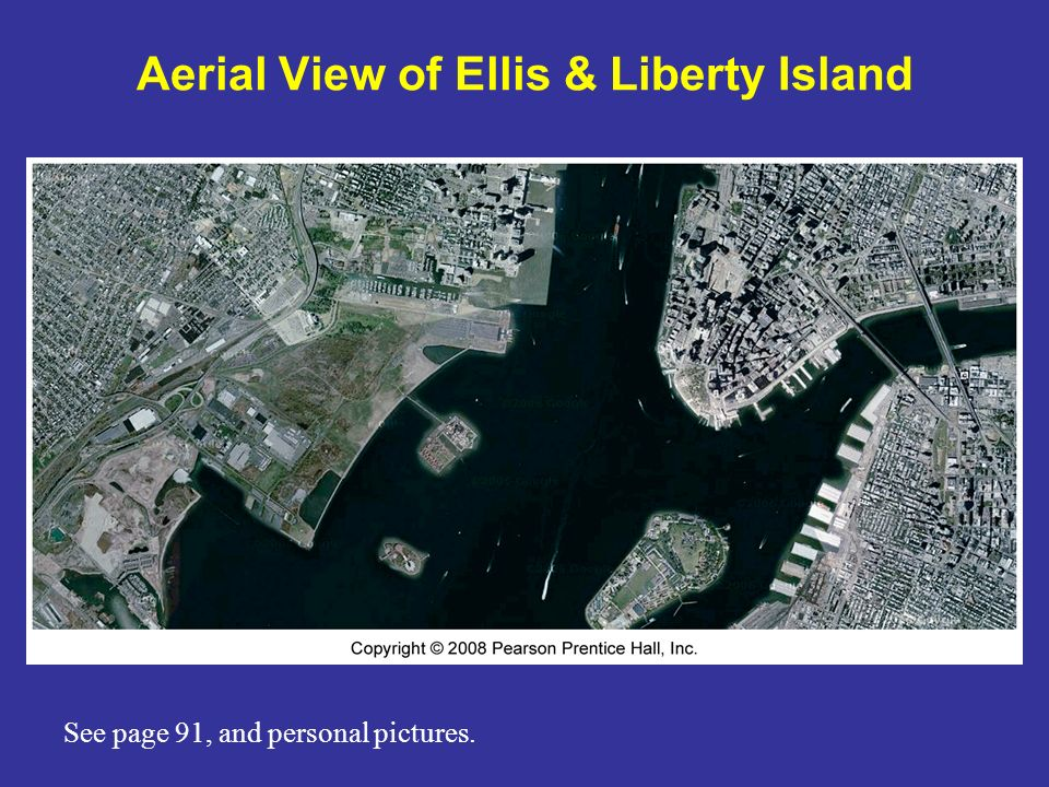 Aerial View of Ellis & Liberty Island