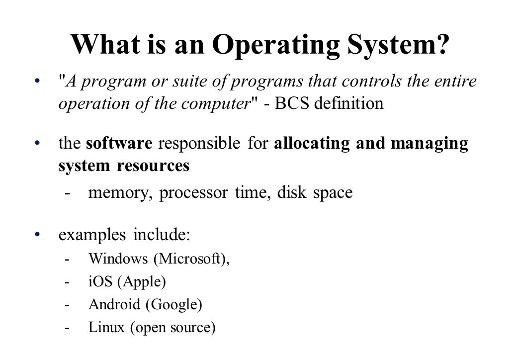 Ppt types of operating systems powerpoint presentation id:2386426.