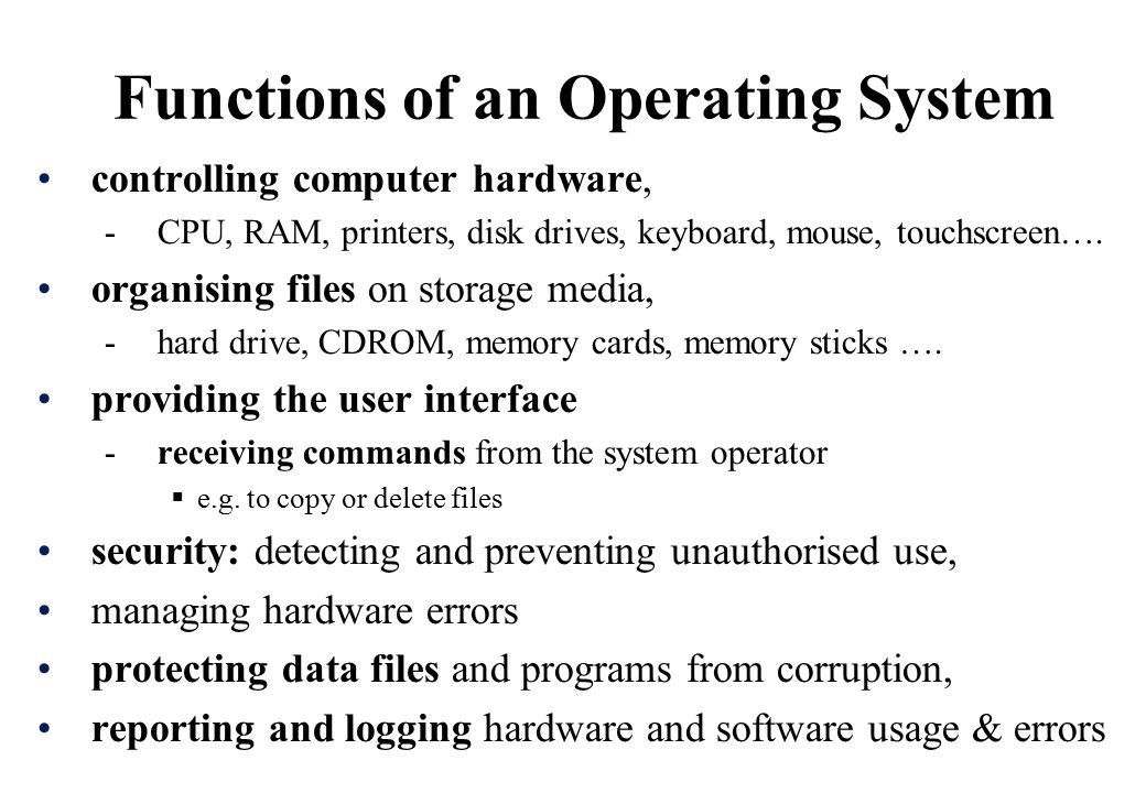 Types of operating systems ppt video online download.