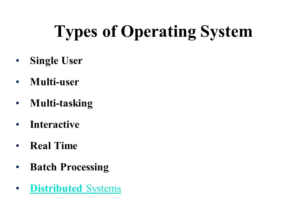 Functions of operating systems.