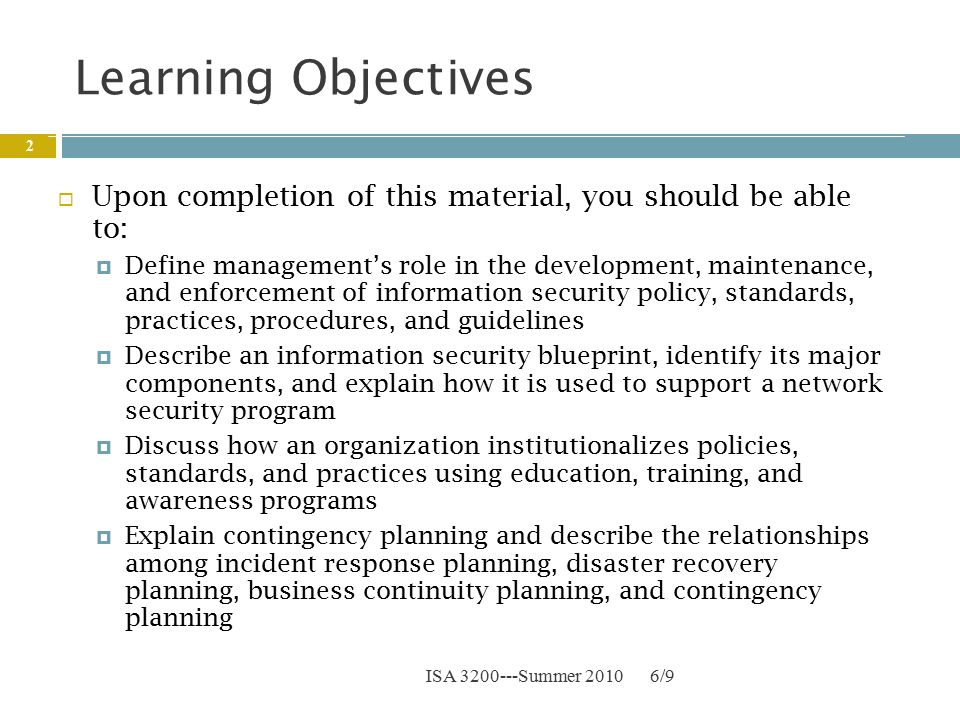 Chapter 3 security policies standards and planning ppt download 2 learning objectives malvernweather Image collections