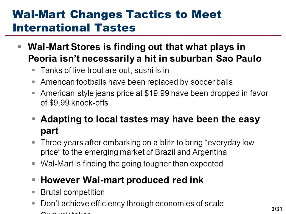 Wal-Mart Changes Tactics to Meet International Tastes