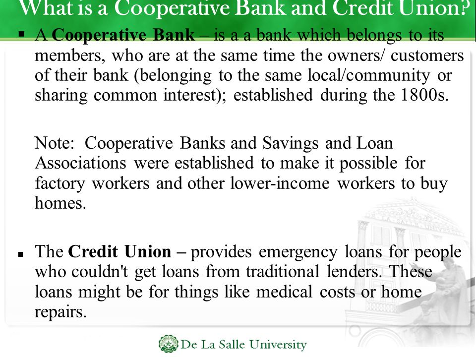What is a Cooperative Bank and Credit Union