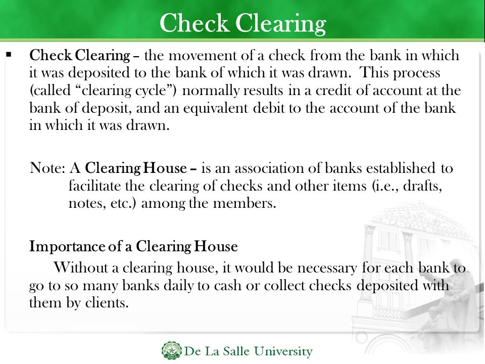 Check Clearing