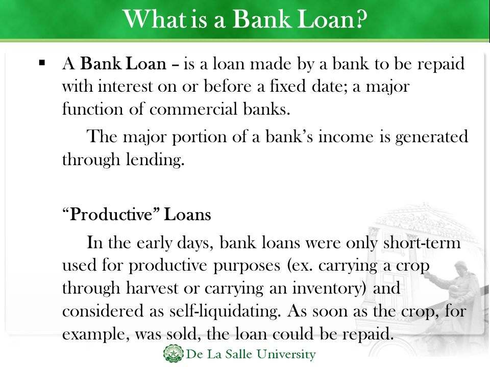 What is a Bank Loan
