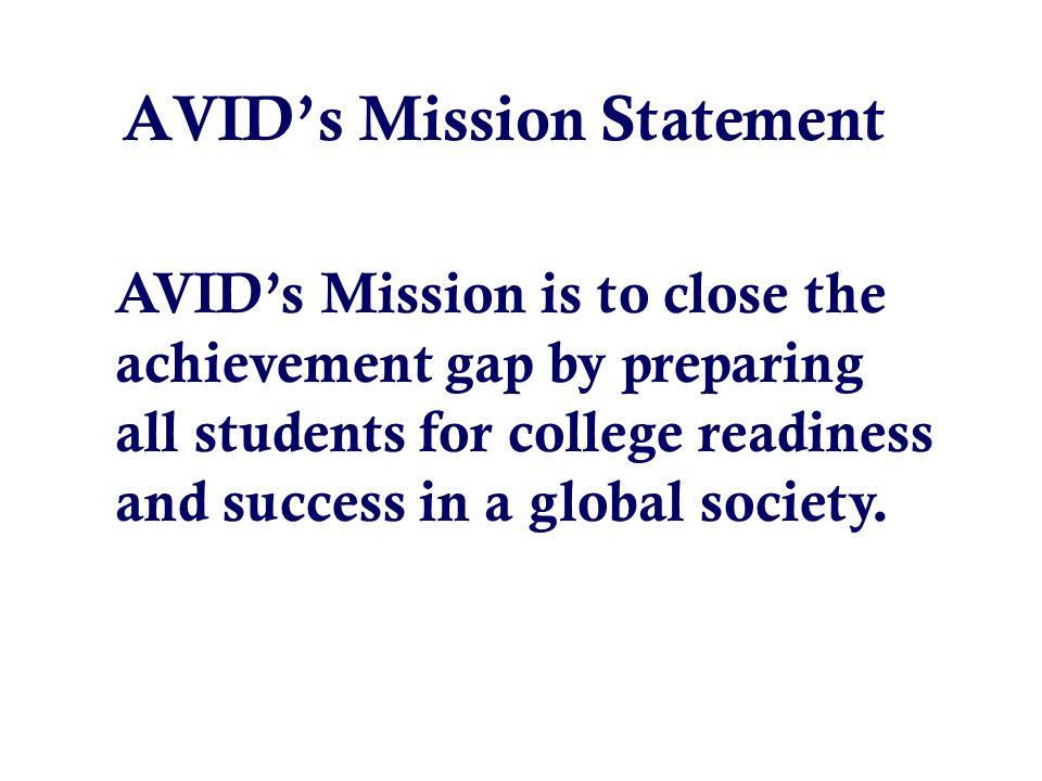 39 avids mission statement