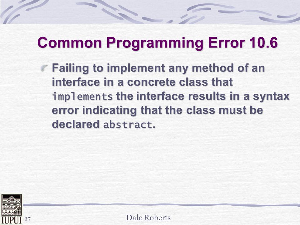 Common Programming Error 10.6